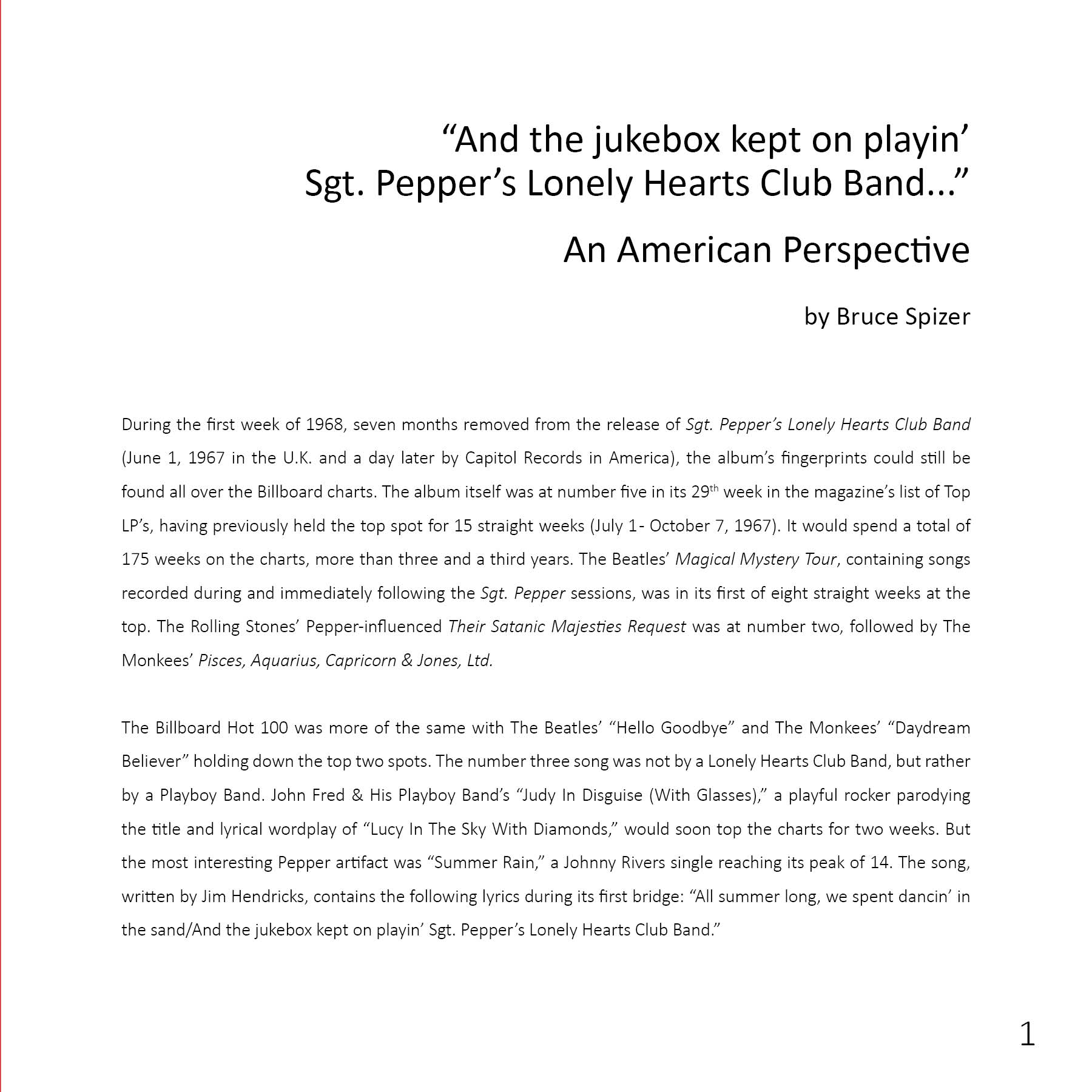 The beatles and sgt pepper a fans perspective beatle lookinside 1 hexwebz Gallery