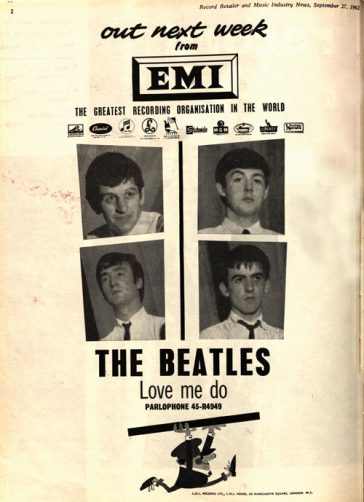 50 Years Ago: EMI Prepares for Release of First Beatles Single