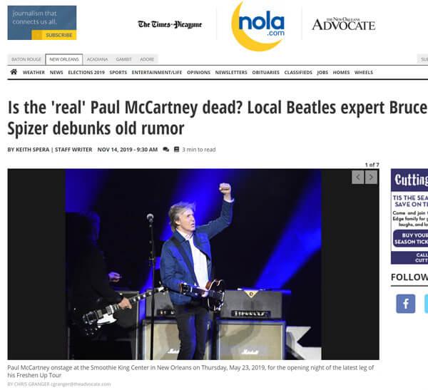 Is the 'real' Paul McCartney dead? Local Beatles expert Bruce Spizer debunks old rumor