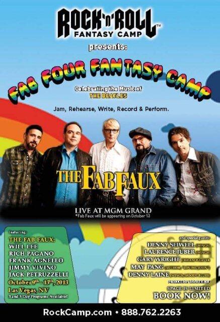 ROCK N ROLL FANTASY CAMP  Oct. 9 – 13, 2013