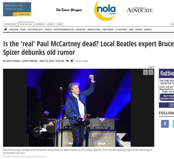 Is the 'real' Paul McCartney dead? Local Beatles expert Bruce Spizer debunks old rumor